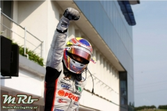 2010 GP2 Series. Round 7.  Hungaroring, Budapest, Hungary. 31st July Saturday Race. Pastor Maldonado (VEN, Rapax) celebrates his victory.  Photo: Charles Coates/GP2 Media Service. Ref: __26Y4449.jpg